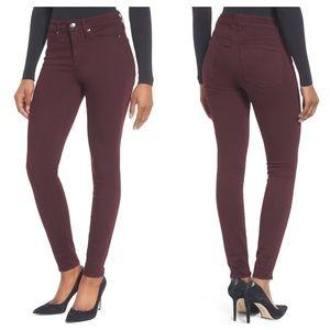 Good American Good Legs High Waist Burgundy 14/32